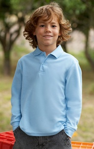 Kinder Polo Fruit Of The Loom Kids Long Sleeve